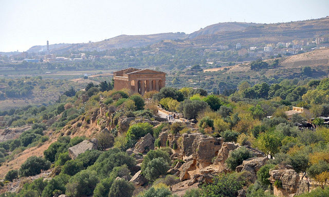 Вид на долину храмов