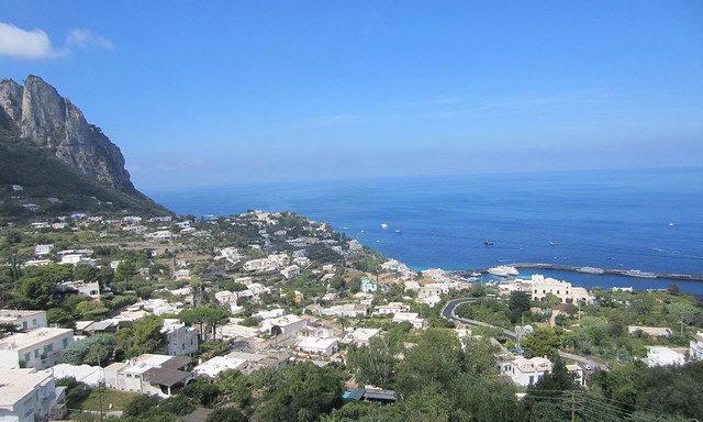 Вид на Капри сверху