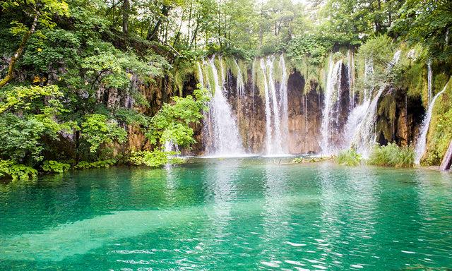 Панорама водопадов, Плитвицкие озера