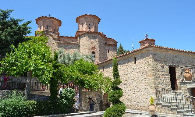 Средневековый монастырь в Метеорах